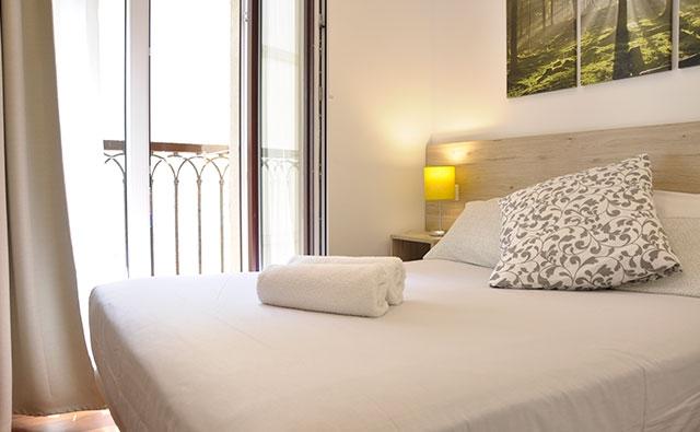 Habitación doble con baño compartido en Donostia